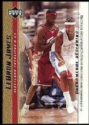 2003-04 Upper Deck Phenomenal Beginning LeBron James Gold #9 LeBron James/An active defender