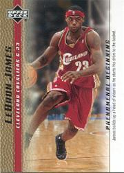 2003-04 Upper Deck Phenomenal Beginning LeBron James Gold #11 LeBron James/James builds up