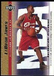 2003-04 Upper Deck Phenomenal Beginning LeBron James Gold #15 LeBron James/An unselfish player