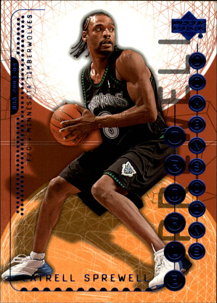 2003-04 Upper Deck Triple Dimensions #48 Latrell Sprewell