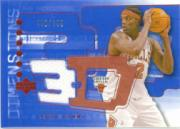 2003-04 Upper Deck Triple Dimensions 3-D Shooting Shirts #S44 Eddy Curry