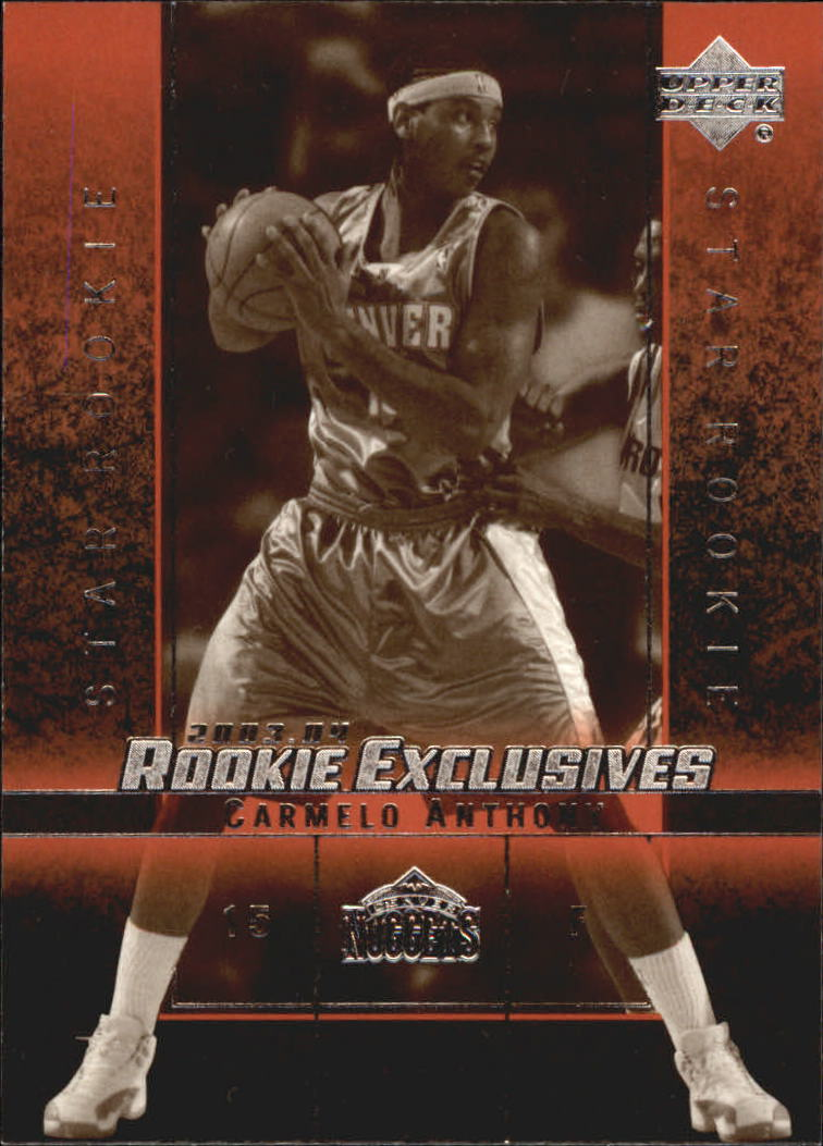 2003-04 Upper Deck Rookie Exclusives Variation #3 Carmelo Anthony