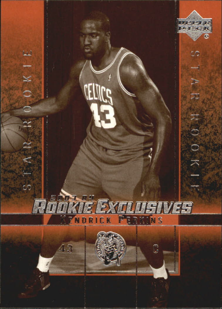 2003-04 Upper Deck Rookie Exclusives Variation #22 Kendrick Perkins