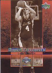 2003-04 Upper Deck Rookie Exclusives Variation #27 Luke Walton