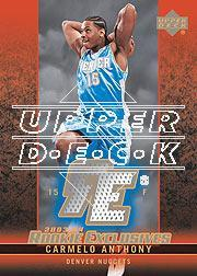 2003-04 Upper Deck Rookie Exclusives Jerseys #J3 Carmelo Anthony