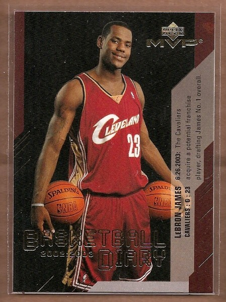 2003-04 Upper Deck MVP Basketball Diary #BD13 LeBron James