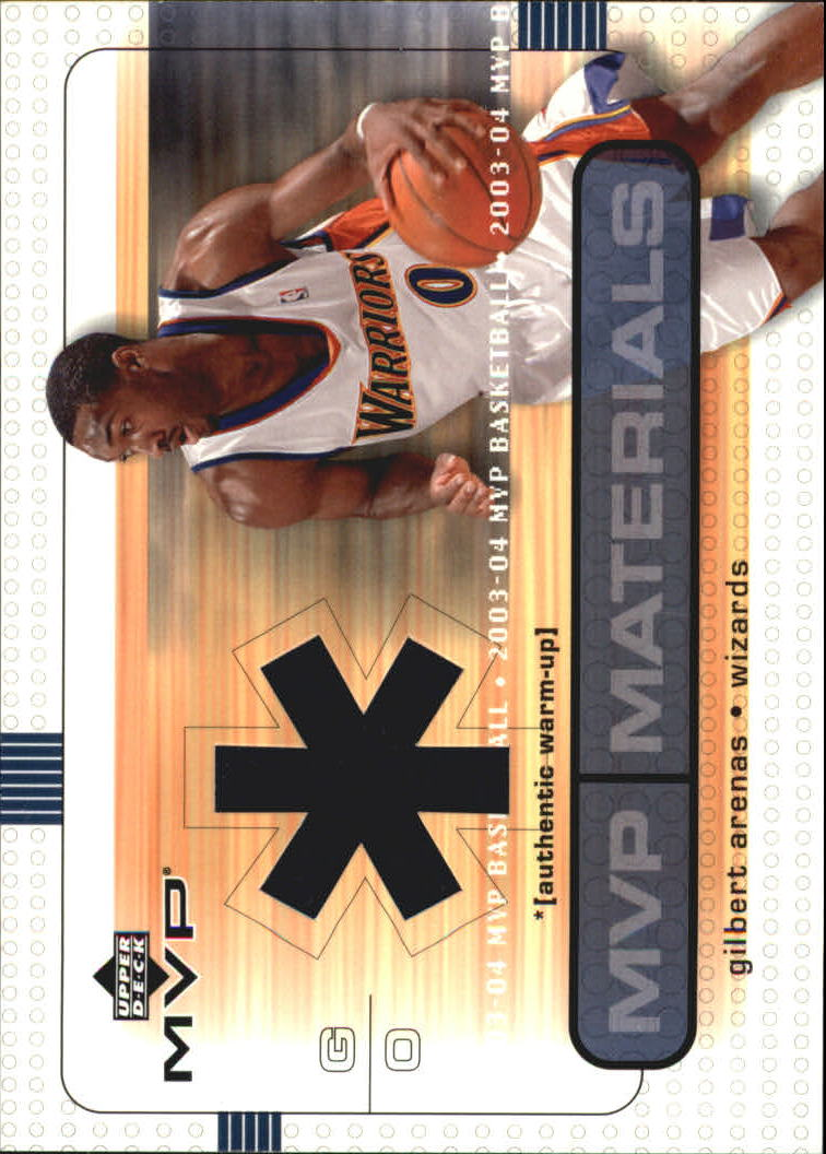 2003-04 Upper Deck MVP Materials Warmups #GAWU Gilbert Arenas