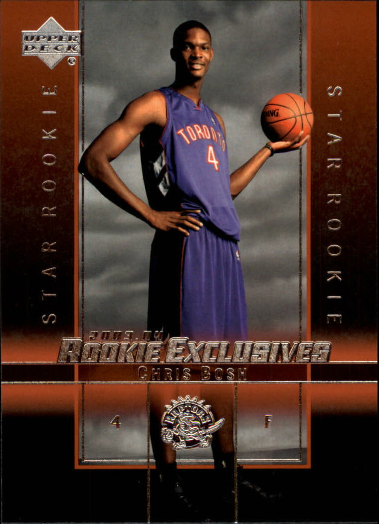 2003-04 Upper Deck Rookie Exclusives #4 Chris Bosh RC front image