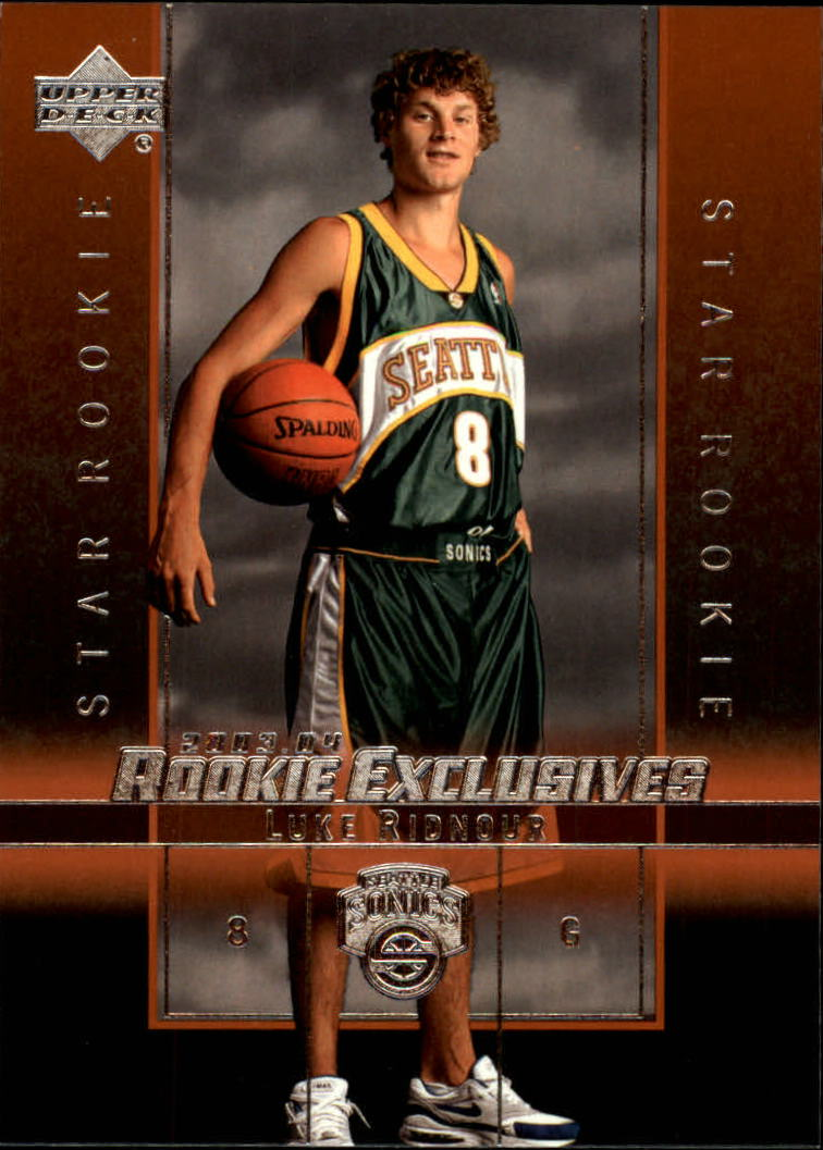 2003-04 Upper Deck Rookie Exclusives #10 Luke Ridnour RC