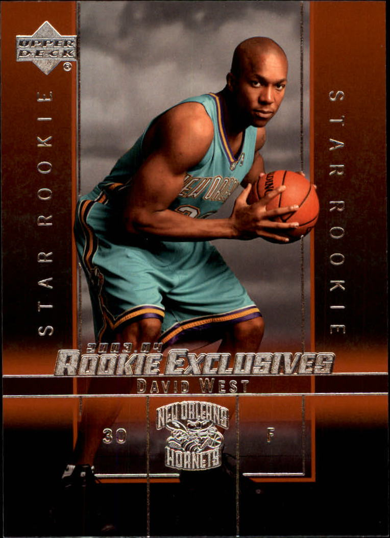 2003-04 Upper Deck Rookie Exclusives #14 David West RC