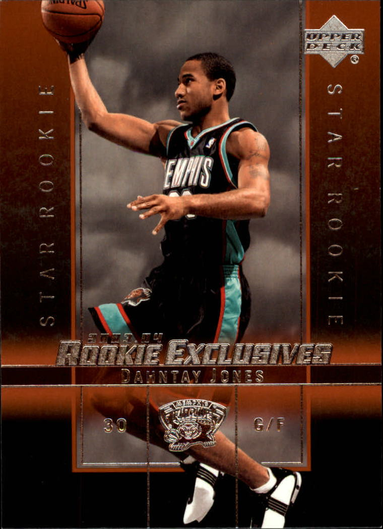 2003-04 Upper Deck Rookie Exclusives #16 Dahntay Jones RC