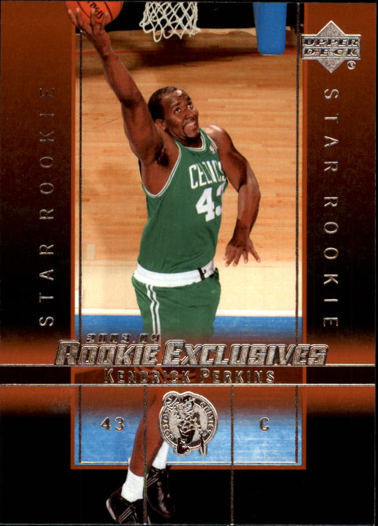 2003-04 Upper Deck Rookie Exclusives #22 Kendrick Perkins RC