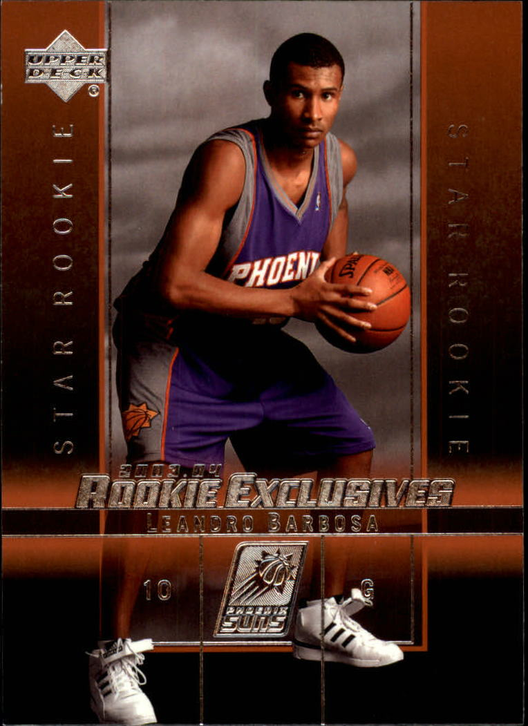 2003-04 Upper Deck Rookie Exclusives #23 Leandro Barbosa RC