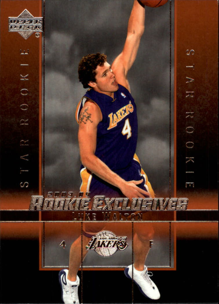 2003-04 Upper Deck Rookie Exclusives #27 Luke Walton RC