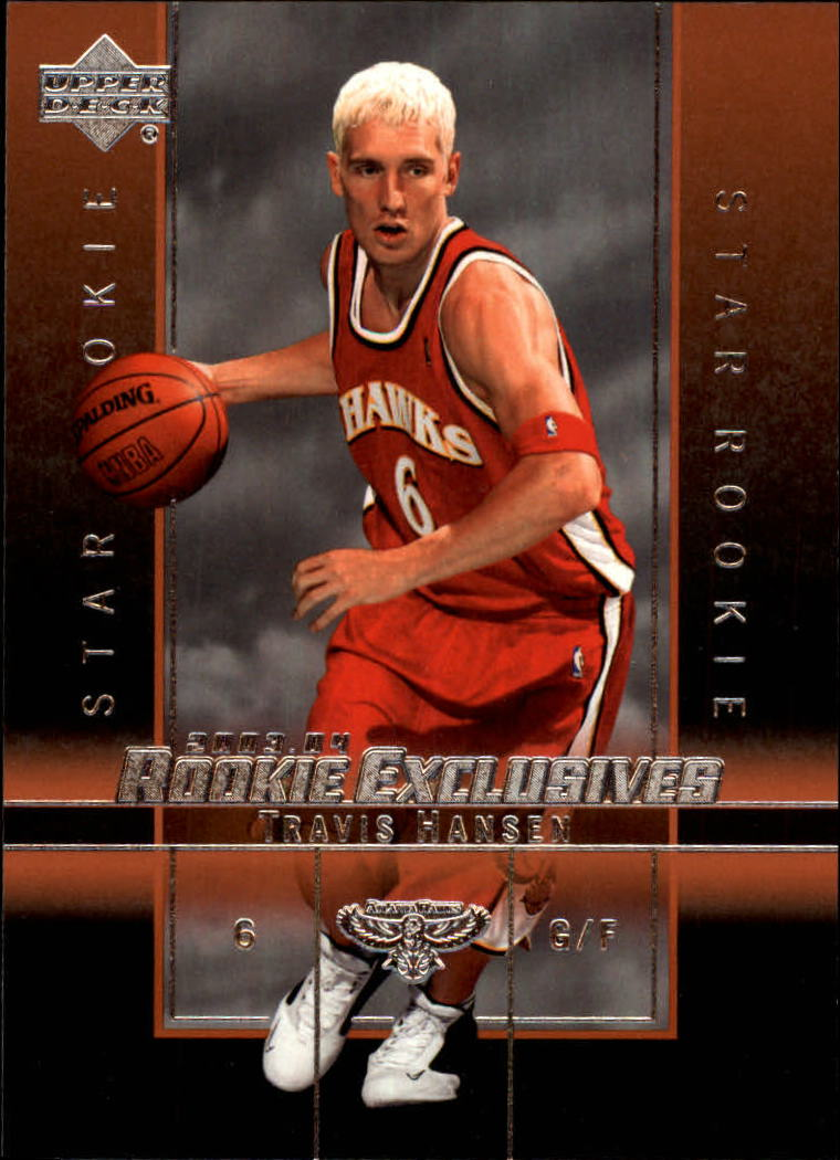 2003-04 Upper Deck Rookie Exclusives #28 Travis Hansen RC