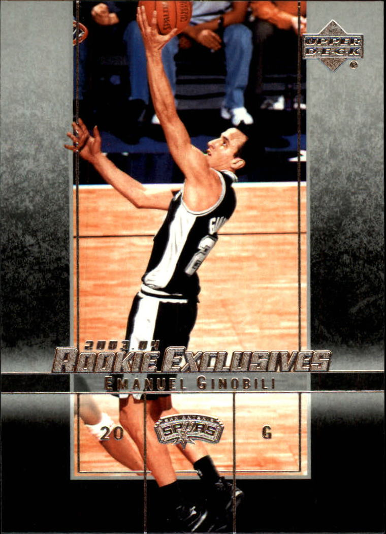 2003-04 Upper Deck Rookie Exclusives #38 Manu Ginobili