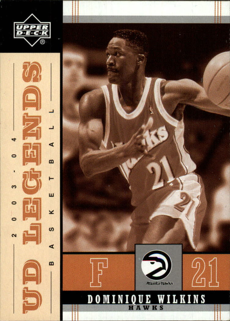 2003-04 Upper Deck Legends Throwback #1 Dominique Wilkins