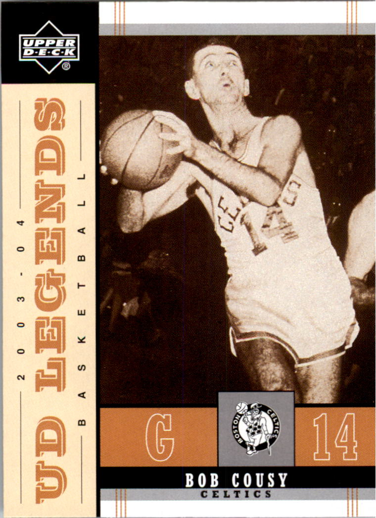 2003-04 Upper Deck Legends Throwback #6 Bob Cousy