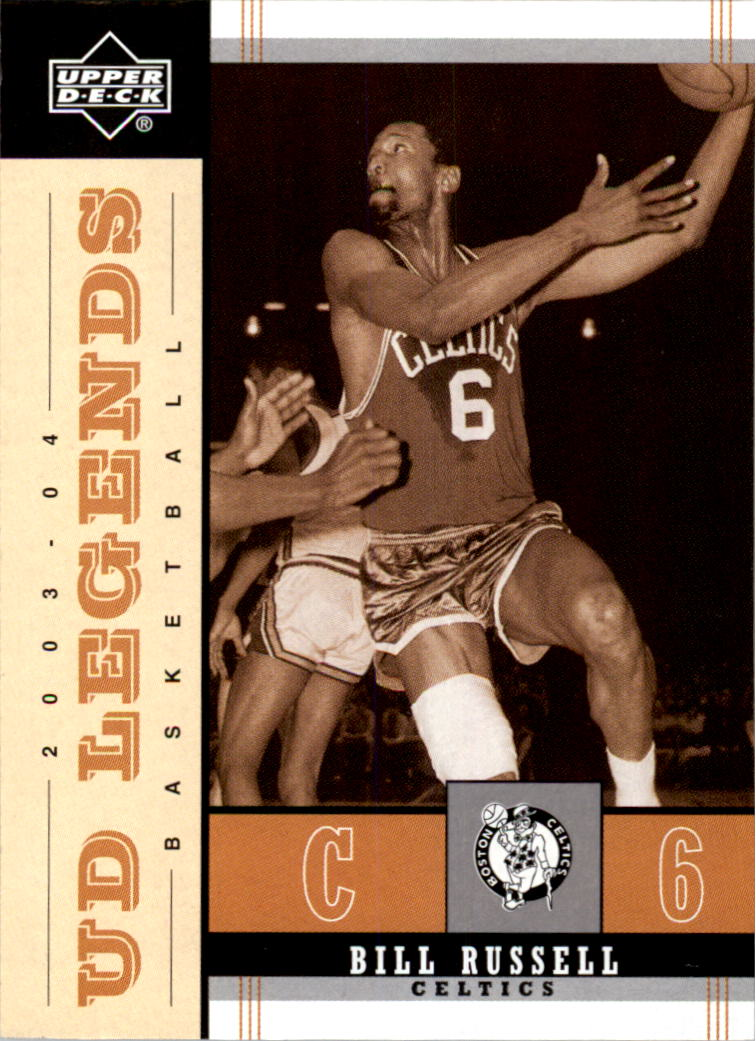 2003-04 Upper Deck Legends Throwback #7 Bill Russell