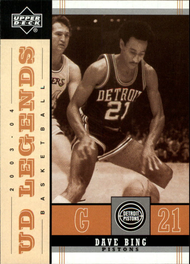 2003-04 Upper Deck Legends Throwback #24 Dave Bing