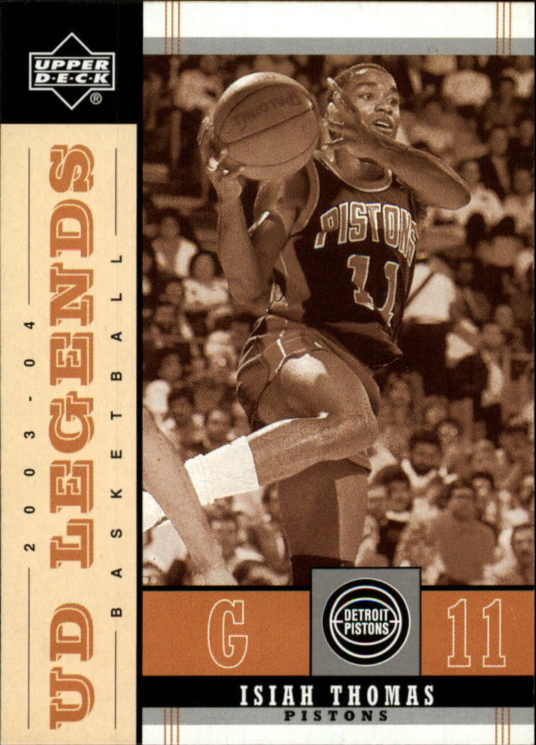 2003-04 Upper Deck Legends Throwback #25 Isiah Thomas