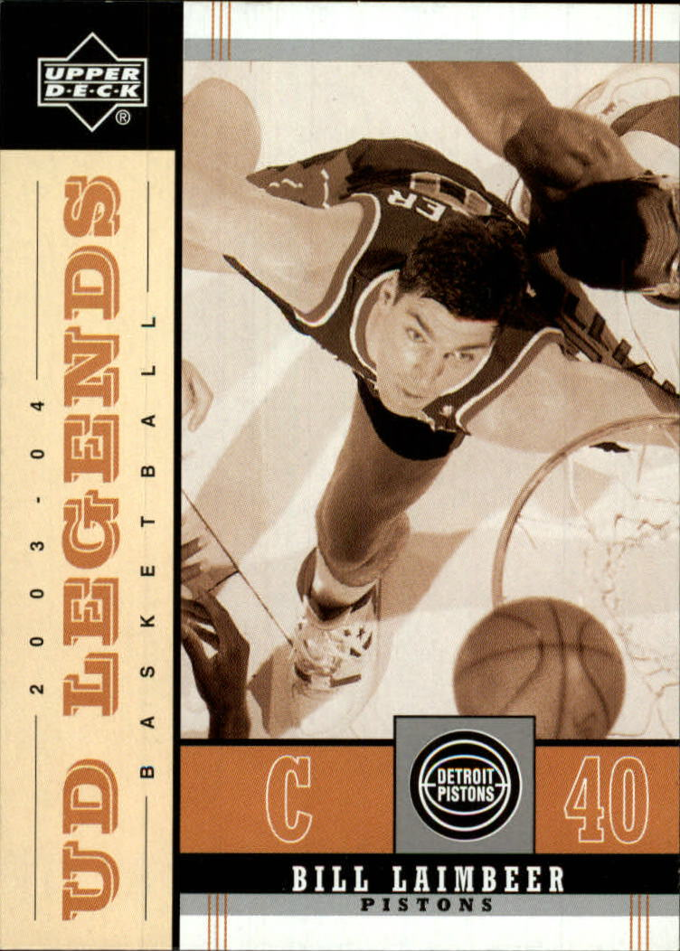 2003-04 Upper Deck Legends Throwback #26 Bill Laimbeer