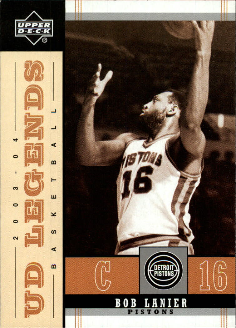 2003-04 Upper Deck Legends Throwback #27 Bob Lanier front image