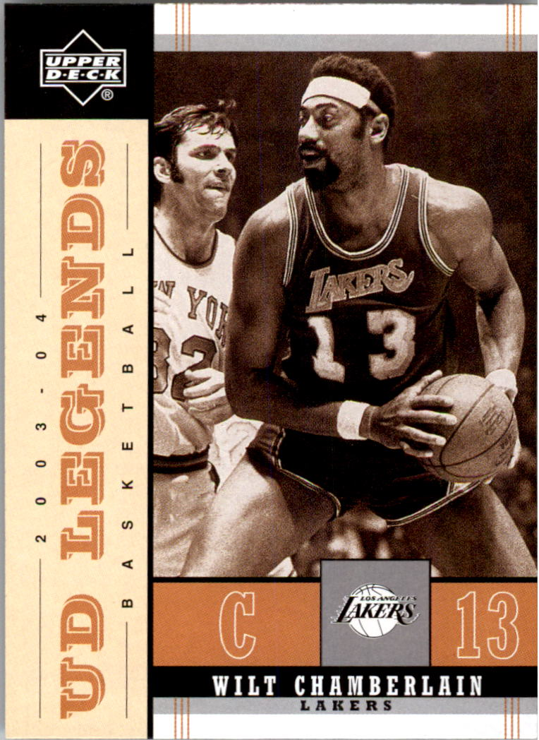 2003-04 Upper Deck Legends Throwback #39 Wilt Chamberlain front image