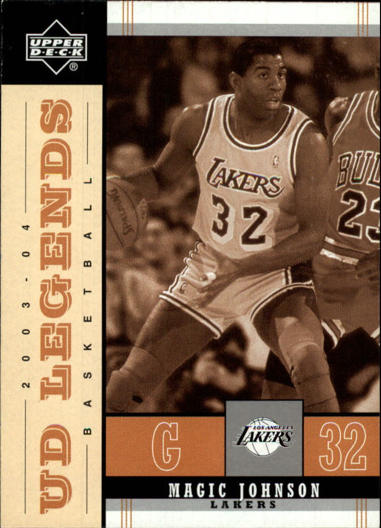 2003-04 Upper Deck Legends Throwback #40 Magic Johnson