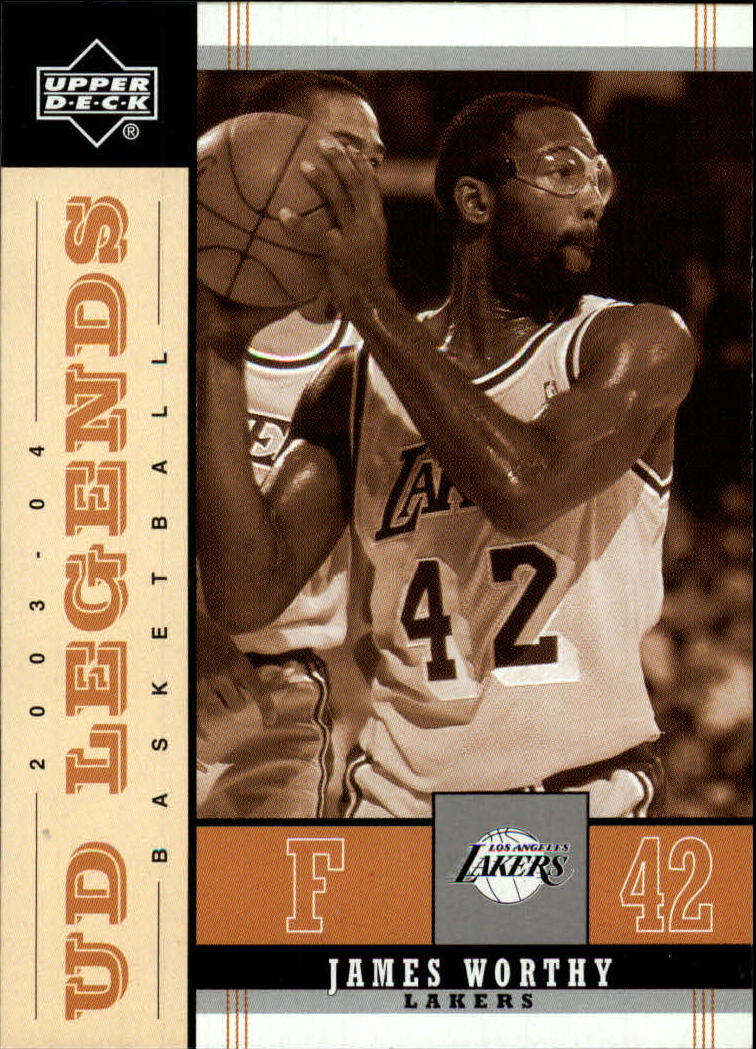 2003-04 Upper Deck Legends Throwback #42 James Worthy