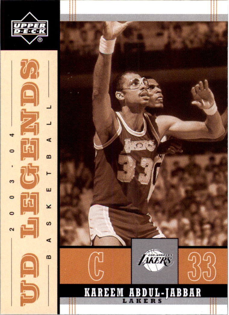 2003-04 Upper Deck Legends Throwback #44 Kareem Abdul-Jabbar