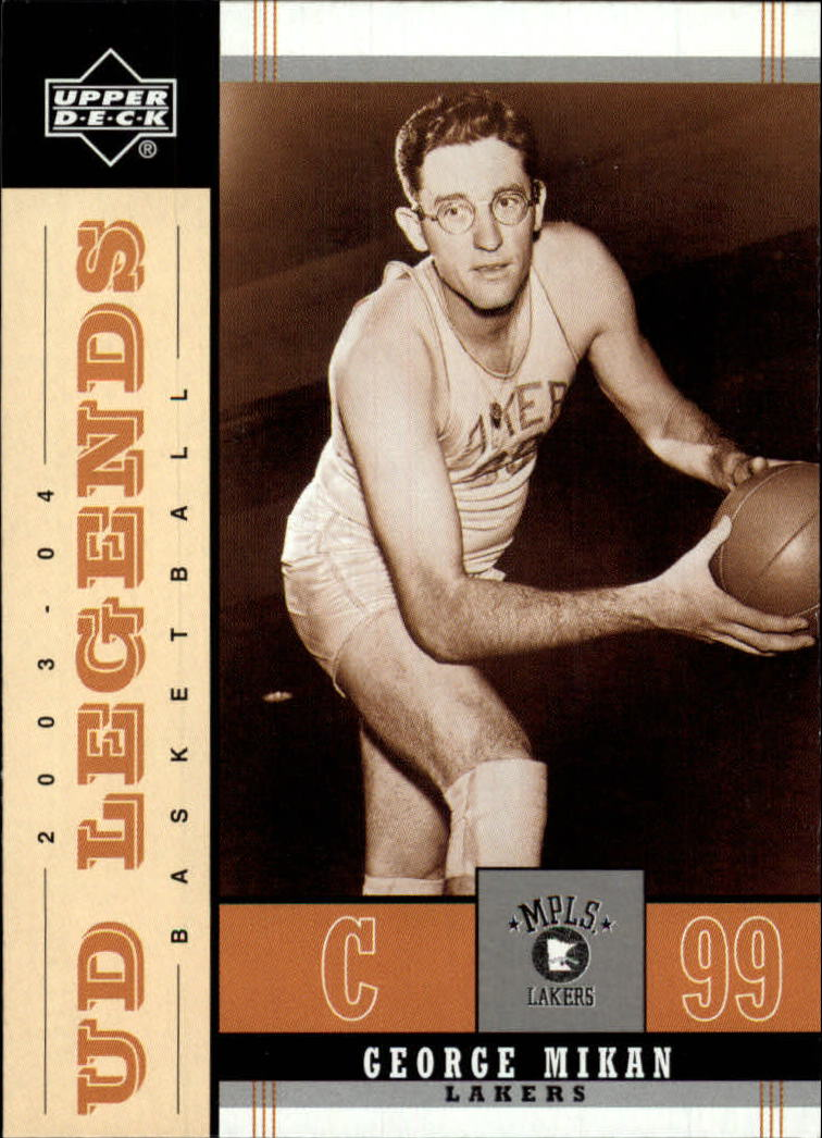2003-04 Upper Deck Legends Throwback #45 George Mikan