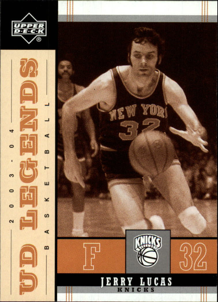 2003-04 Upper Deck Legends Throwback #57 Jerry Lucas front image