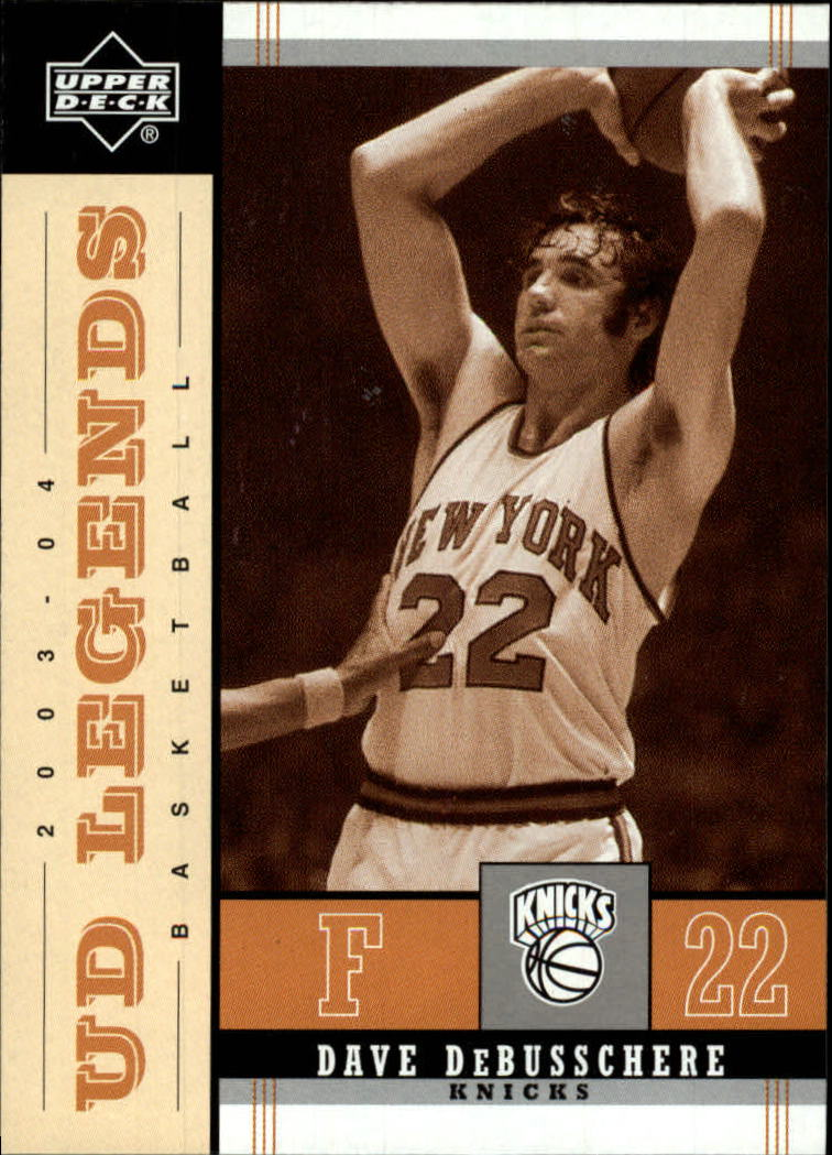 2003-04 Upper Deck Legends Throwback #58 Dave DeBusschere front image