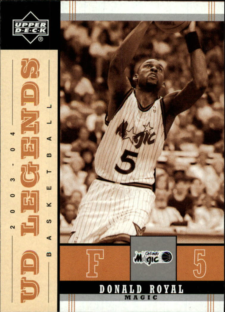 2003-04 Upper Deck Legends Throwback #63 Donald Royal