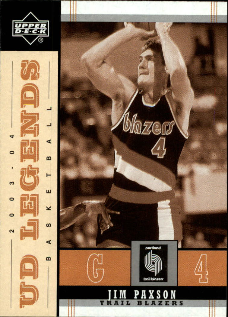 2003-04 Upper Deck Legends Throwback #75 Jim Paxson