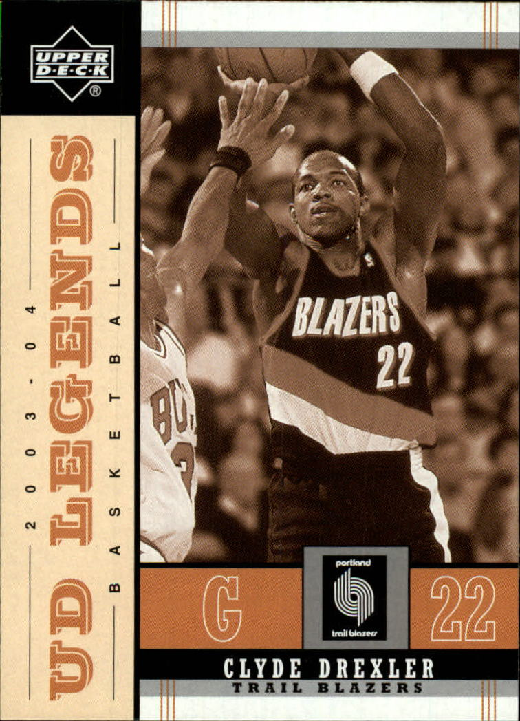 2003-04 Upper Deck Legends Throwback #76 Clyde Drexler