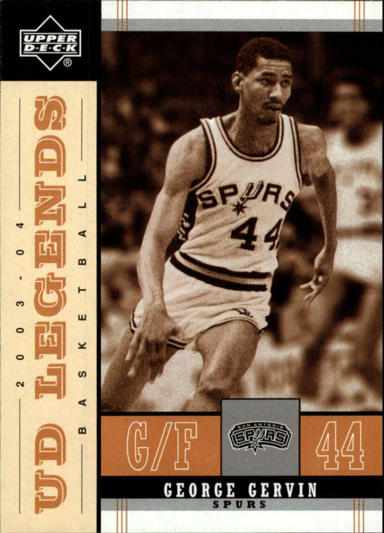 2003-04 Upper Deck Legends Throwback #81 George Gervin