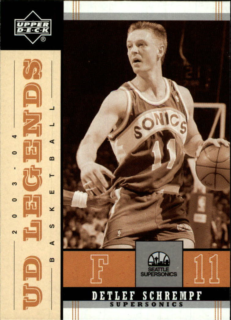 2003-04 Upper Deck Legends Throwback #83 Detlef Schrempf
