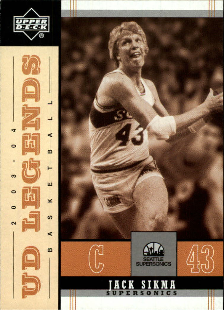 2003-04 Upper Deck Legends Throwback #84 Jack Sikma