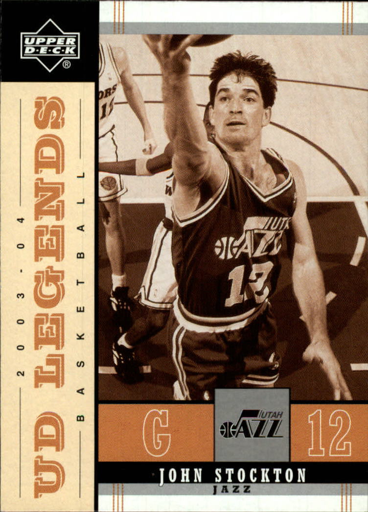 2003-04 Upper Deck Legends Throwback #87 John Stockton