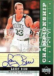 2003-04 Upper Deck Legends Championship Numbers Autographs #LB Larry Bird/33