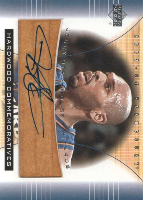 2003-04 Upper Deck Hardcourt Hardwood Commemoratives #JSAF Jerry Stackhouse