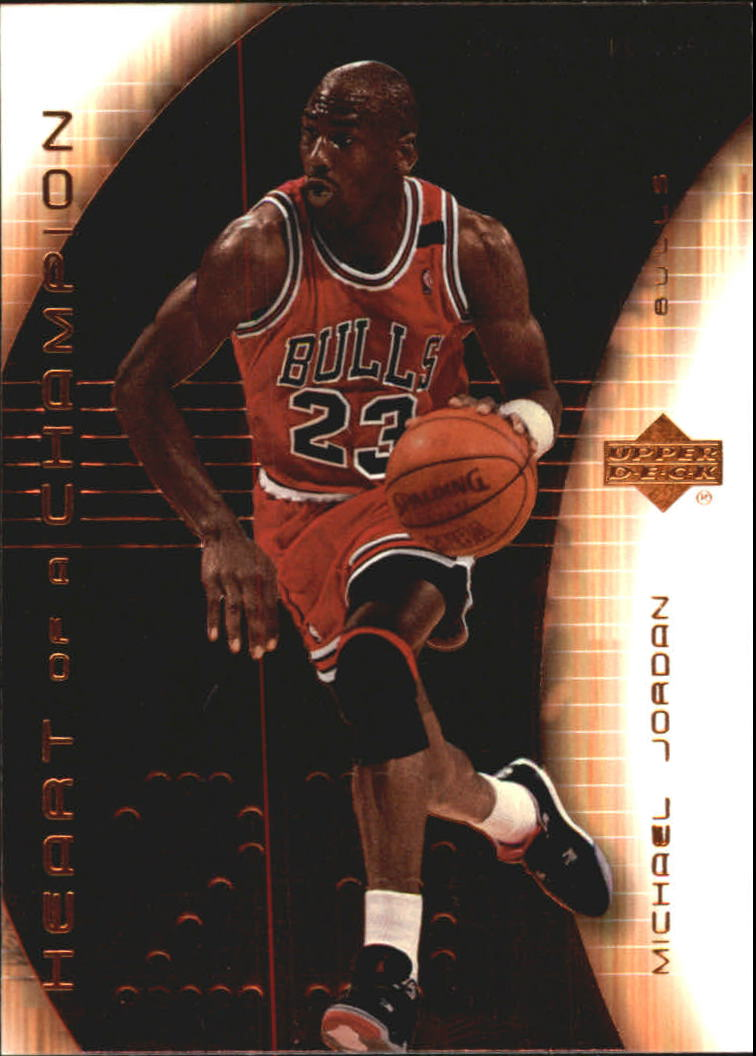 2003-04 Upper Deck Hardcourt Heart of a Champion #MJ6 Michael Jordan/Bulls Red Jersey