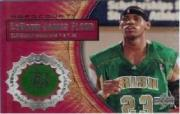 2003-04 Upper Deck Hardcourt LeBron James Floor #LB3 LeBron James/Green JSY Black Headband
