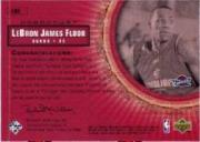 2003-04 Upper Deck Hardcourt LeBron James Floor #LB5 LeBron James/Red Cavs Practice JSY back image