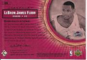 2003-04 Upper Deck Hardcourt LeBron James Floor #LB6 LeBron James/White Cavs Prictice JSY back image