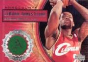2003-04 Upper Deck Hardcourt LeBron James Floor #LB8 LeBron James/Red Cavs JSY Shooting