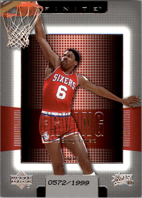 2003-04 Upper Deck Finite #140 Julius Erving front image
