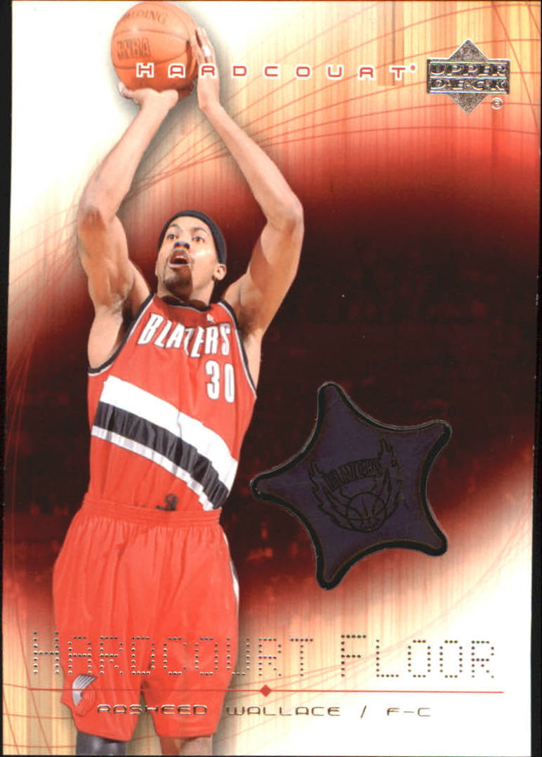2003-04 Upper Deck Hardcourt Floor #RWF Rasheed Wallace